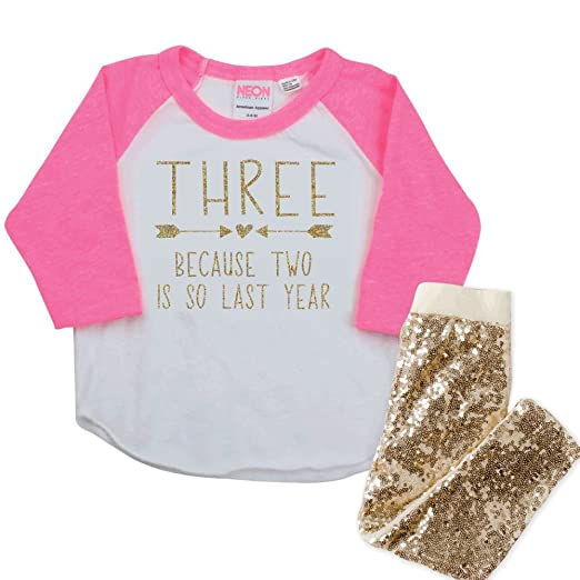 b6a7ea905 Image Unavailable. Image not available for. Color: 3rd Birthday Outfit Girl,  3 Year Old ...