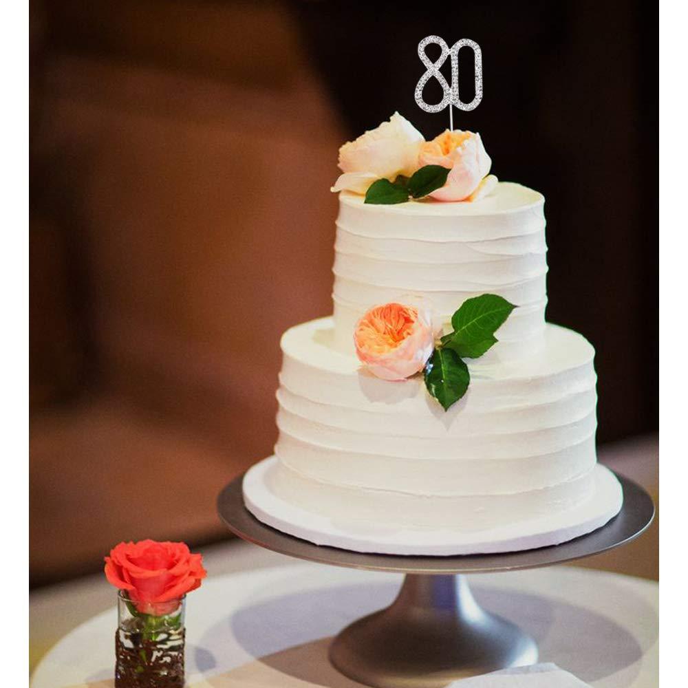 /Nombre Strass de g/âteau anniversaire de mariage anniversaire D/écoration de g/âteaux de f/êtes de fian/çailles N /° 13/16/18/21/25/30/40/50/60/70/&nb JJOnlineStore/