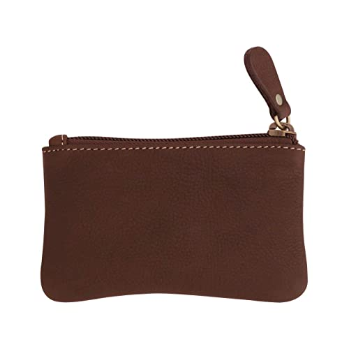 Amazon.com: Leather Coin Purse With Zipper, Change Wallet ...