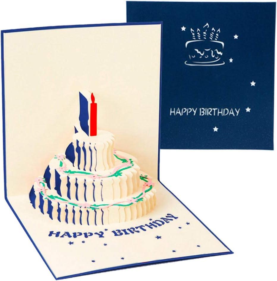 3D Pop-up Birthday Card, Pop UP Greeting Card £1.99 @ Amazon