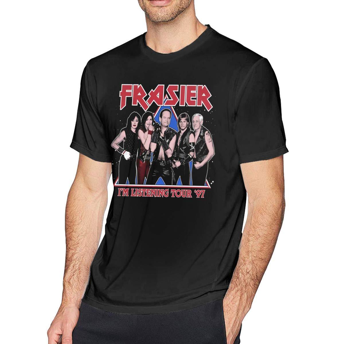 NeedLove Mens Vintage Frasier Im Listening Tour 97 Tees Black