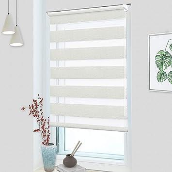 Doppelrollo Klemmfix ohne Bohren Doppel Vorhang Rollo Fenster Rollo Sichtschutz