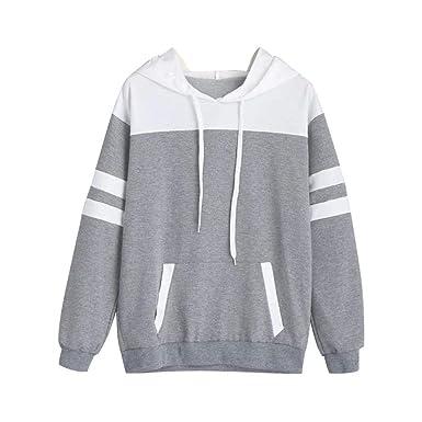 MEIbax Damen Hoodie Sweatshirt Langarm Pullover mit Kapuze Pullover Tops  Bluse Sport Oberteile Langarmshirt Tunika  Amazon.de  Bekleidung 290e7b3bff