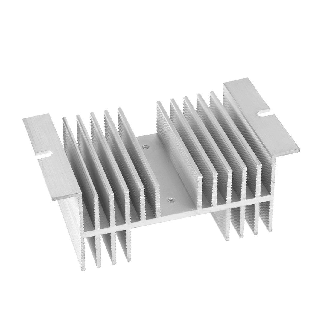 sourcing map Aluminium K/ühlk/örper SSR Dissipation f/ür Einphasen Halbleiterrelais 10A-100A DE de