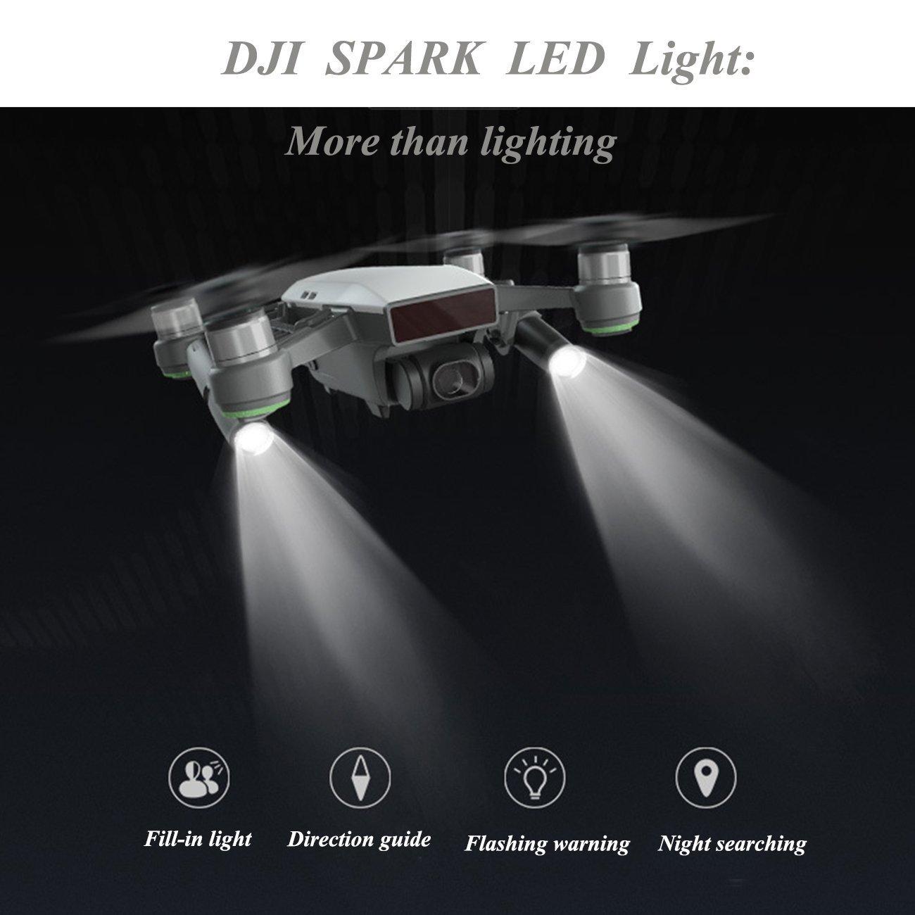 Dji Mavic Air Accessories Led Light Kit Small Flashlight Long Range Adjustable Strobe Luminosity For