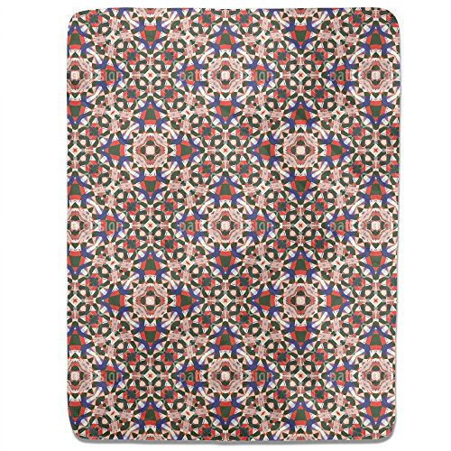 Kaleidoscope Fitted Sheet: King Luxury Microfiber, Soft, Breathable by uneekee