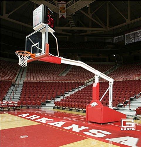 Garedスポーツ9616 WL 8 ft。拡張子Gared Pro SポータブルバスケットボールシステムwithホイールLift Fiba承認