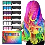 #9: Qivange Hair Chalk Comb, 6 Pcs Non-Toxic Temporary Hair Coloring for Kids, Ideal Christmas Birthday Party Children's Day Gifts for Girls Boys for Age 4 and Plus