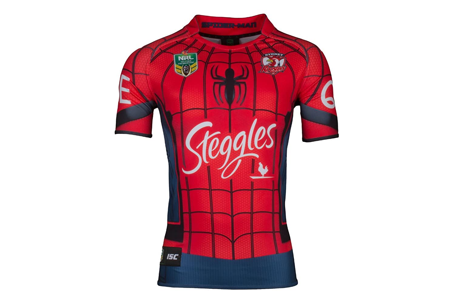 cd016ae577f Sydney Roosters 2017 NRL Spiderman Marvel S/S Ltd Edition Rugby Shirt -  Size 4XL: Amazon.co.uk: Clothing