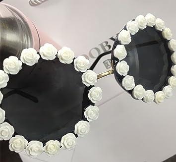 KUKI Handgefertigte Damen Strass Blume Sonnenbrille , 2