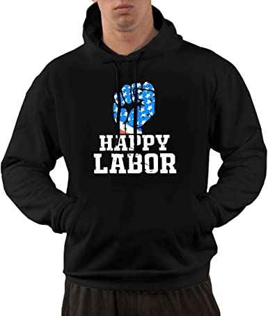 Its Labor Day Men Jacket Pullover Tops Pocket Hoodie Coats