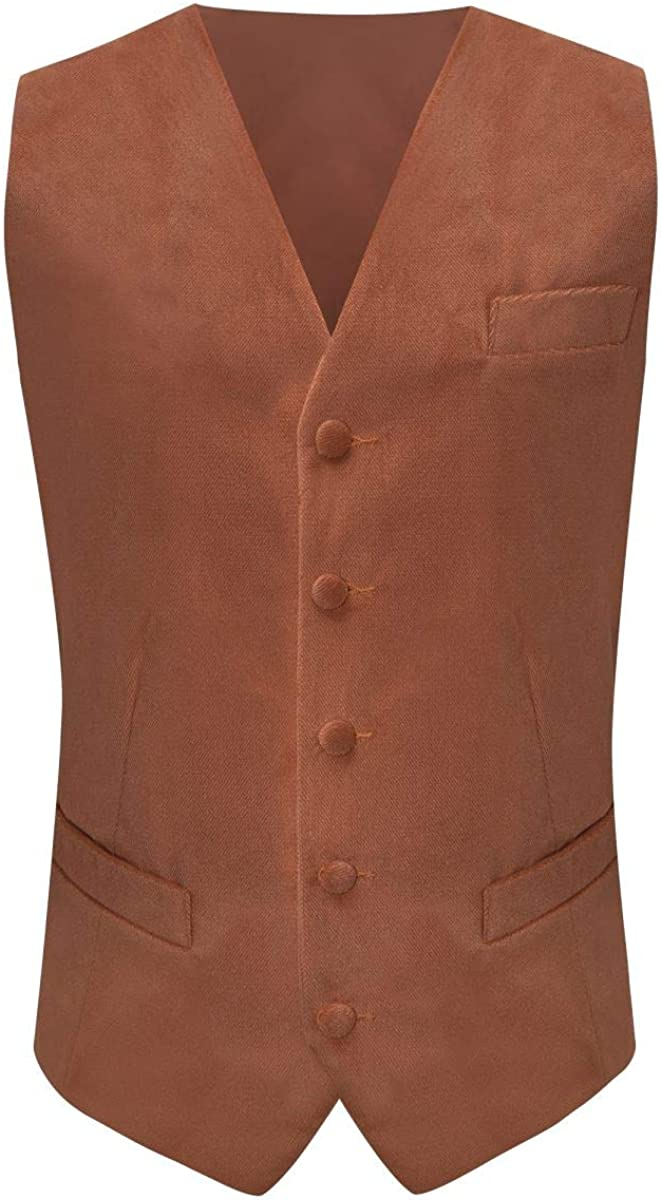 Bronze Textured Velvet Waistcoat