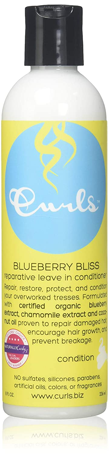CURLS Blueberry Bliss Reparative Leave-In Conditioner 8 Ounces 859776000208