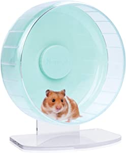 Niteangel Super-Silent Hamster Exercise Wheels: - Quiet Spinner Hamster Running Wheels with Adjustable Stand for Hamsters Gerbils Mice Or Other Small Animals (M, Mint Green)
