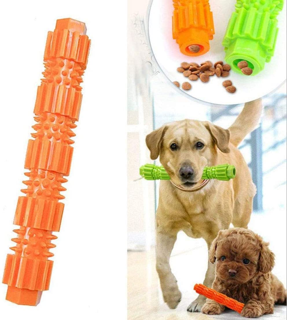 KNXIDR 3PCS para Perros Juguetes para Masticar de mascar, Molar Diente Mascotas morder Cachorro Interact Alimentador Anti-mordedura Jugar Formación IQ Cepillo de Dientes palillo de dispensación Treat