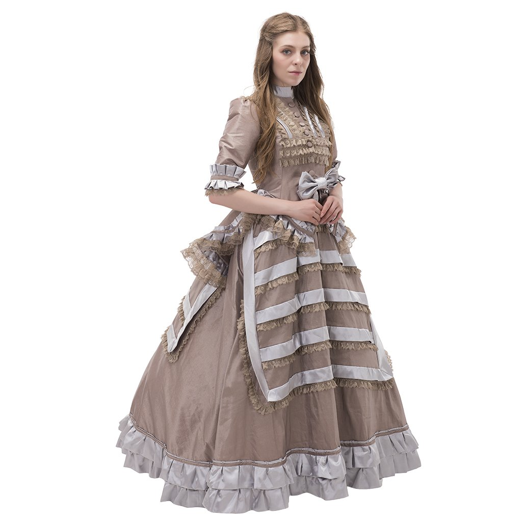 Make an Easy Victorian Costume Dress with a Skirt and Blouse 1971s lady Historical Inspired Victorian Rococo Vintage Medieval Dress NQ0019 $142.68 AT vintagedancer.com