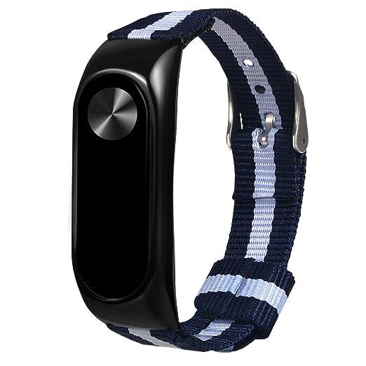 Correa de Reloj de Pulsera Ajustable de Acero Inoxidable, con Marco para Xiaomi MI Band 3: Amazon.es: Relojes