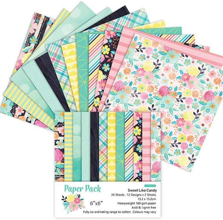 Lancei 24 Hojas Scrapbook Paper Pad Floral Scrapbooking Exquisita Cartulina Paper Pad Vintage Stamped Paper DIY Papel Decorativo Manualidades Para Scrapbooking Y Craft benefit: Amazon.es: Hogar
