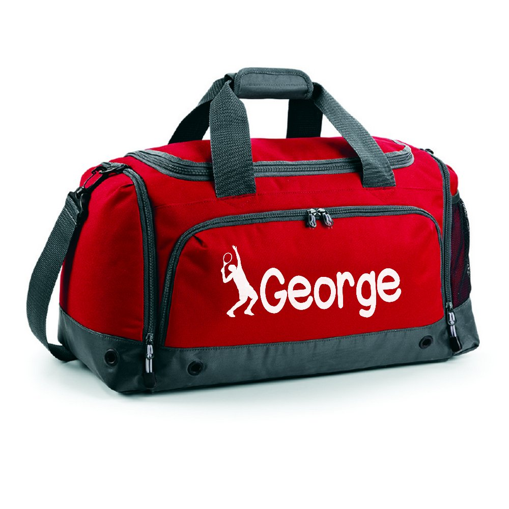iClobber Boys Personalised Tennis Holdall Personalised with Your Name or club Kit Bag Bag