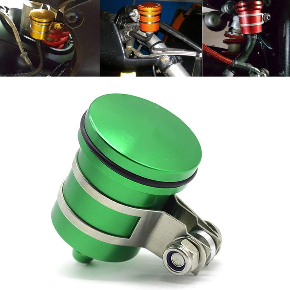 Motorcycle Aluminum Brake Clutch Fluid Reservoir Front or Rear Oil Cup For kawasaki Ninja 650 250 250R 300 650R ZX10R ZX12R ZX14 ZX6 ZX6R ZX6RR Ninja ZRX-1100 ZRX-1200 ZZR-600 KLE650 EX250