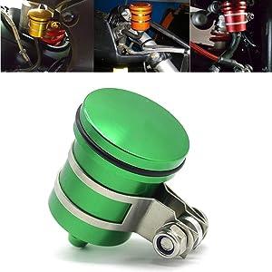 Motorcycle Aluminum Brake Clutch Fluid Reservoir Front or Rear Oil Cup For kawasaki Ninja 650 250 250R 300 650R ZX10R ZX12R ZX14 ZX6 ZX6R ZX6RR Ninja ZRX-1100 ZRX-1200 ZZR-600 KLE650 EX250