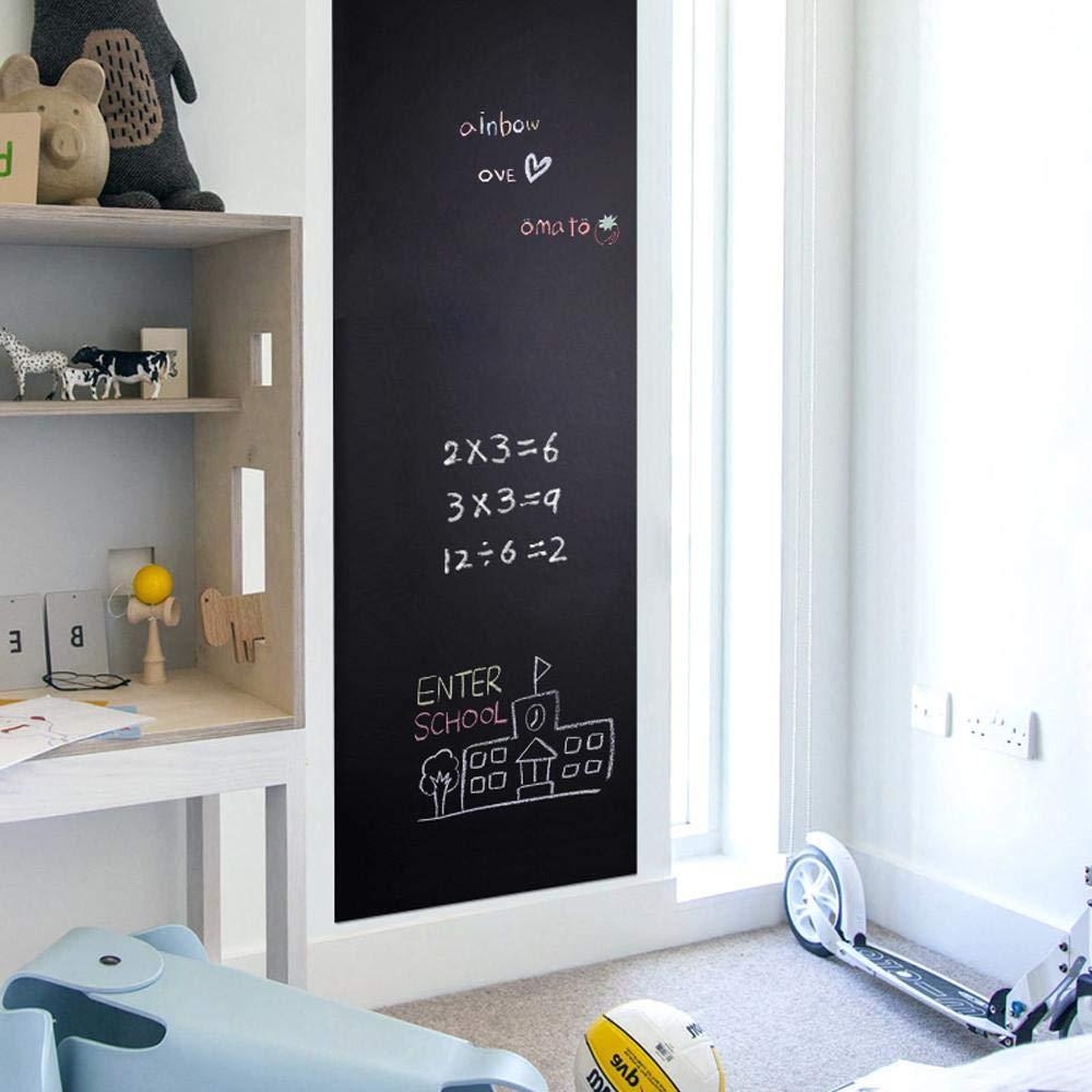 Yaheetech Lavagna Adesiva Cancellabile per Muro Parete Mobili da Cucina 60 x 300 cm Nera