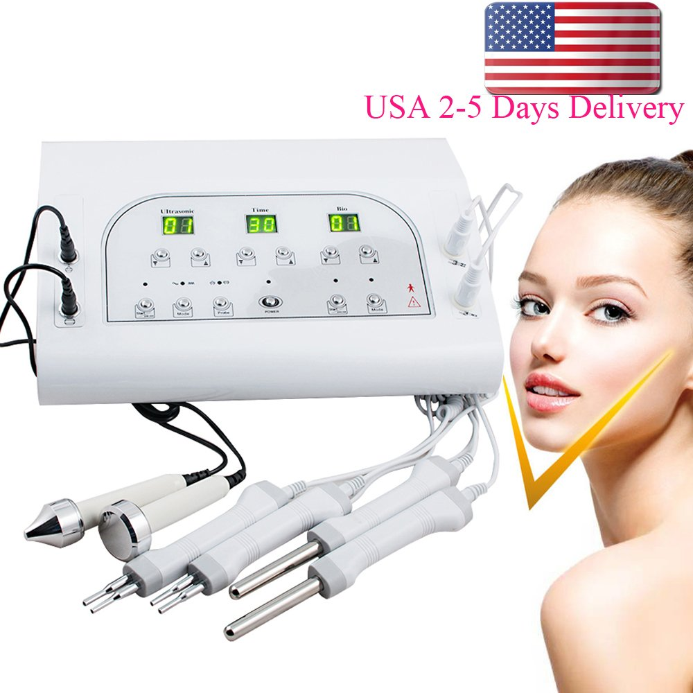 Pevor 2 IN 1 3MHz BIO Microcurrent Facial Skin Beauty Salon Spa Machine Face Lift Machine Women SPA USA SHIP by Pevor