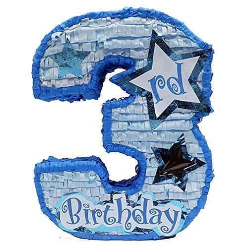 UPC 721083421741, Boys Third Birthday Pinata - Blue