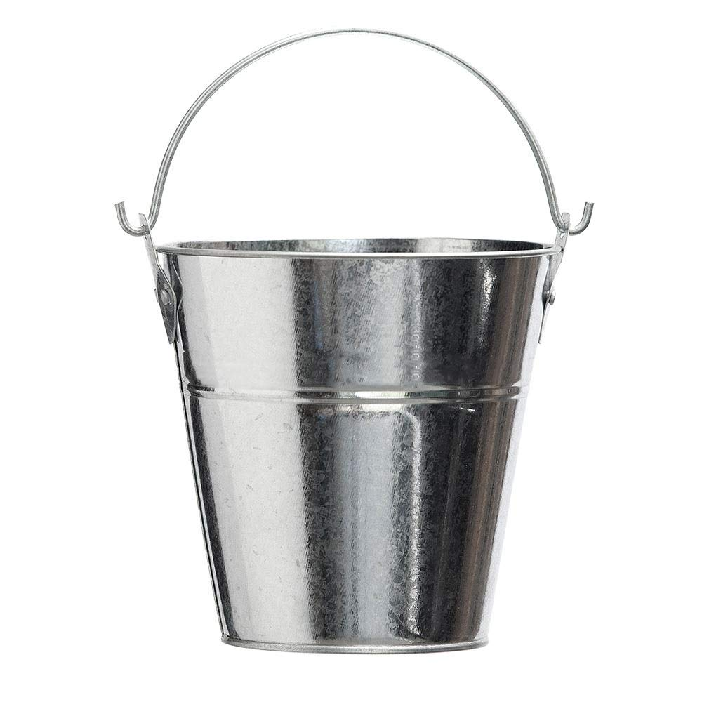 Metal Bucket for Grease with Grill / Smoker - Metal Pail With Handle - 2 Quarts BBQ Butler