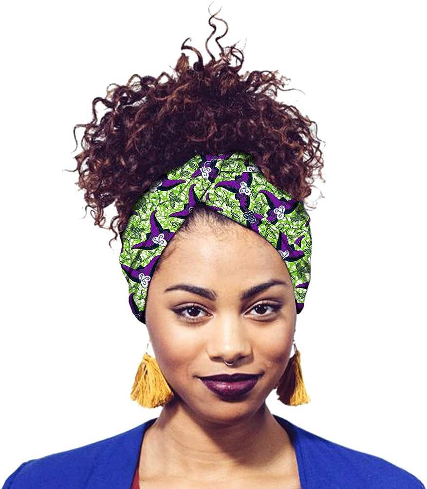 Mengyu Damen Kopftuch Printed Turban Afrikanischen Muster Knoten Schlaf Elegante Hijab Headscarf