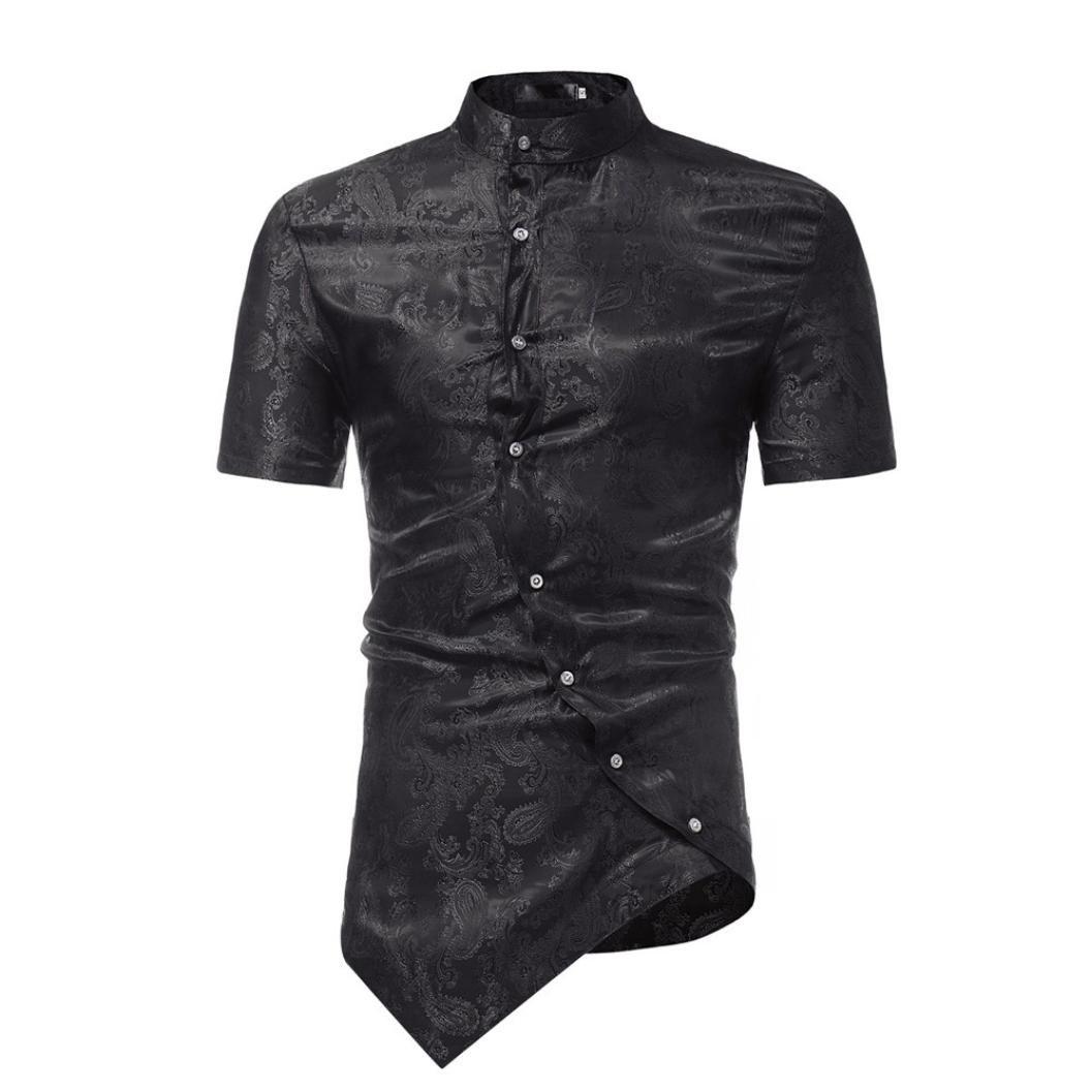 Camiseta para Hombre, Los Hombres Irregulares Slim Fit Camiseta Estampada de Manga Corta Camiseta Casual Top Blusa: Amazon.es: Ropa y accesorios
