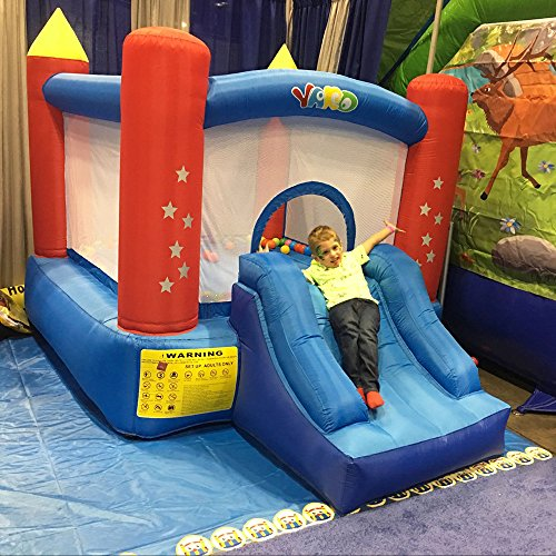 YARD Party Event Games Kids Bounce House Home Activities Children Inflatable Bouncy Castle with Slide Include Blower (9.5'x6.5'x6.5') by YARD (Image #5)