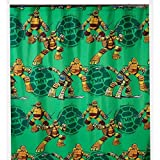Teenage Mutant Ninja Turtles Shower Curtain, Hooks, Bath Towel, Wastebasket, and Bath Rug