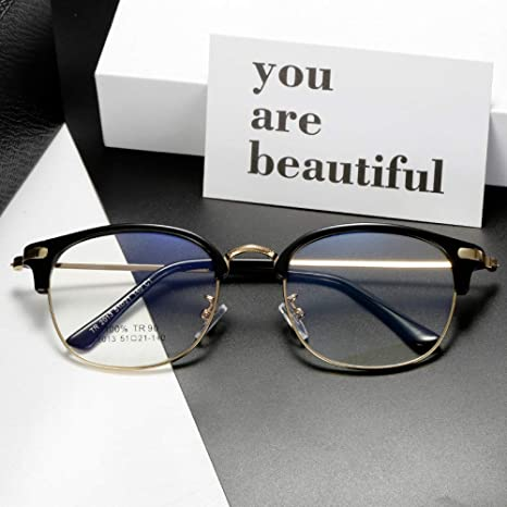 Yangjing-hl Gafas de Sol para Hombres y Mujeres Espejo Plano ...