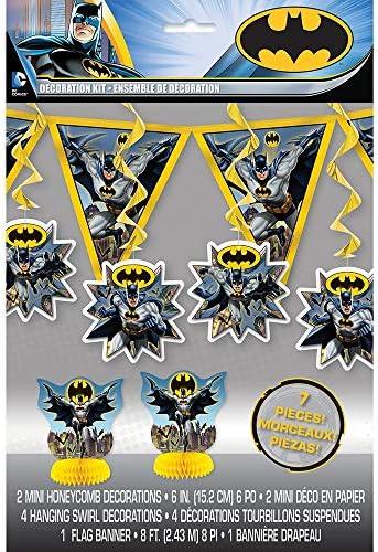 Unique Party- Warner Bros Kit de decoración de Fiesta de Batman, Juego de 7 (49923)