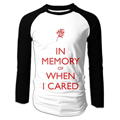 12bb9e045 Mens Tee Shirts, Fashion in Memory of When I Cared Long-Sleeved Shirt for