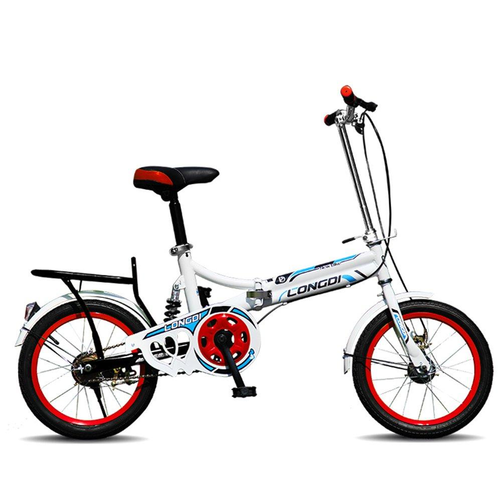 XQ チャイルドフォールド自転車16/20インチ大人超軽量ポータブル男性と女性の学生自転車 子ども用自転車 ( 色 : ブラック , サイズ さいず : 20-inch ) B07CJYM7DF 20-inch|ブラック ブラック 20-inch
