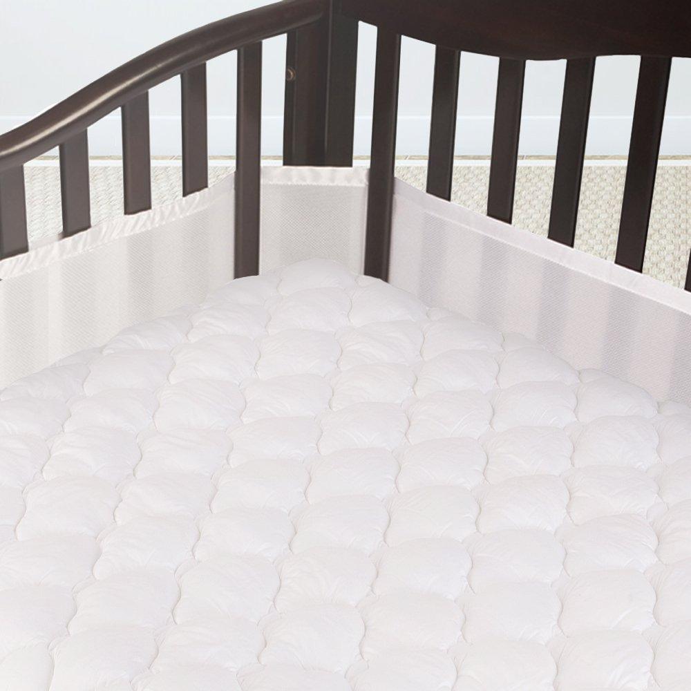 Cardinal & Crest Crib Size Overfilled Pillow Top Crib Mattress Pad