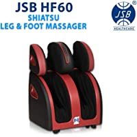 JSB HF05 Ultra Leg Foot and Calf Massager Machine for Pain Relief (White-Blue)