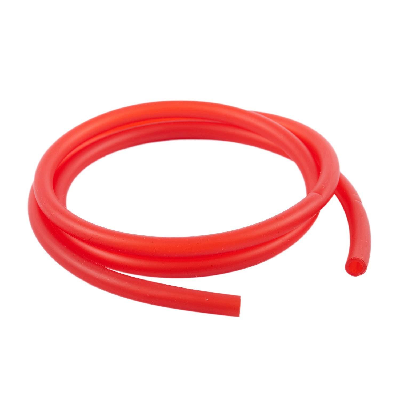 BKAUK Color Rojo 5 mm x 8 mm Tubo de Goma para Combustible de Gasolina 1 m