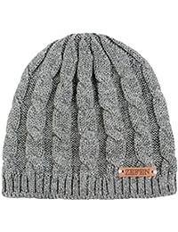 zefen Baby Boys Beanie Hat Cap Knitted Braid Cascade Grey