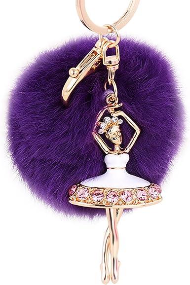 Accessories Doll Charm Keychain POM Pom Keychain Ballet Gift Charm Keychain Gift for Her Handbag Keyring BALLERINA KEYCHAIN