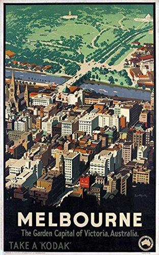 Vintage Australian Sydney Harbour Bridge Tourism Poster  A3 Print