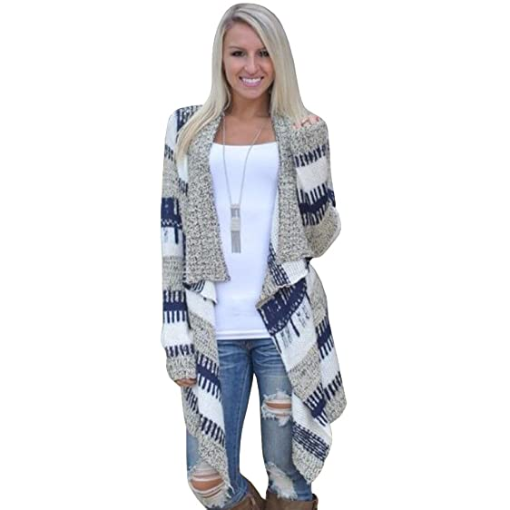 Merryfun Women's Casual Drape Front Patterns Irregular Cardigan ...