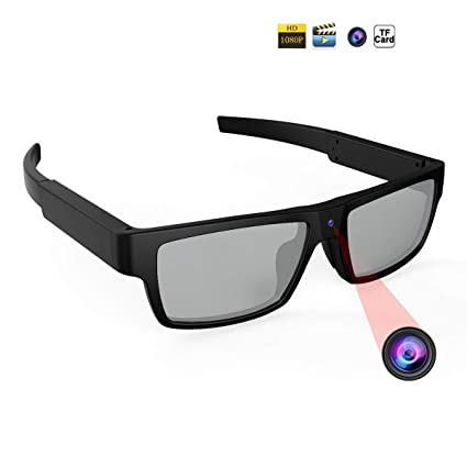 d83f0ece92f0 SIKVIO Spy Camera Polarized Sunglasses HD 1080P Hidden Camera Sports  Security Camera with 16GB Card