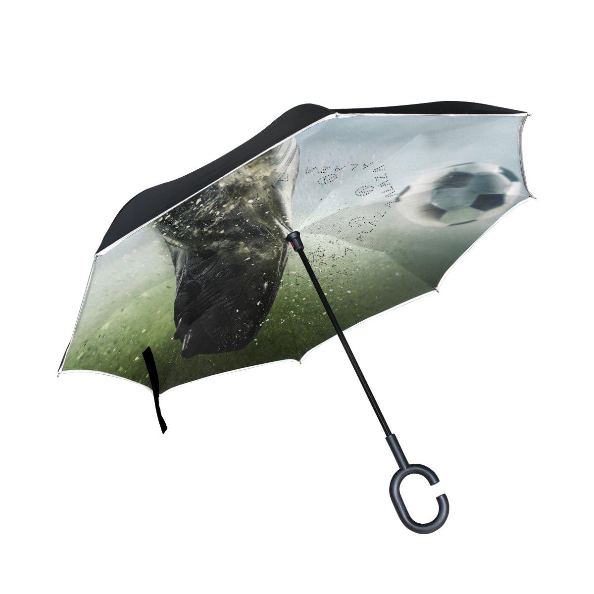 Top Carpenter Double Layer Reverse Inverted Inverted Umbrellasサッカーボールon パターン10 Grass Top C型のハンドルの車アウトドア パターン10 B07FMKNTM2, ミヤシロマチ:6f336012 --- ijpba.info