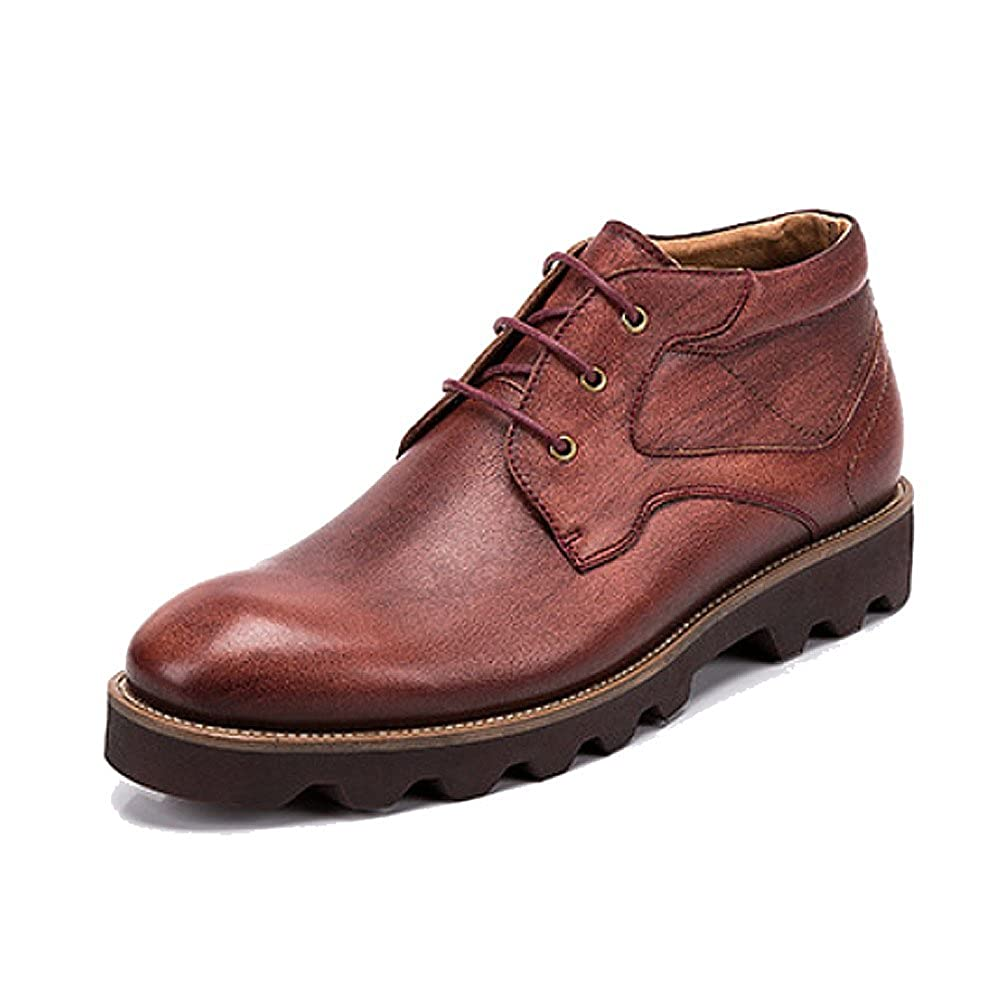 LYZGF Männer Herbst Stiefelies Casual Mode Britischen Schnürsenkel Lederstiefel