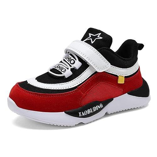Amazon con Scarpe Ginnastica Fondo da Scarpe da Sportive Bambini Bambini Antiscivolo Strisce per Scarpe con Leggere Bambina it Velcro a da Moda Corsa zqUxT1