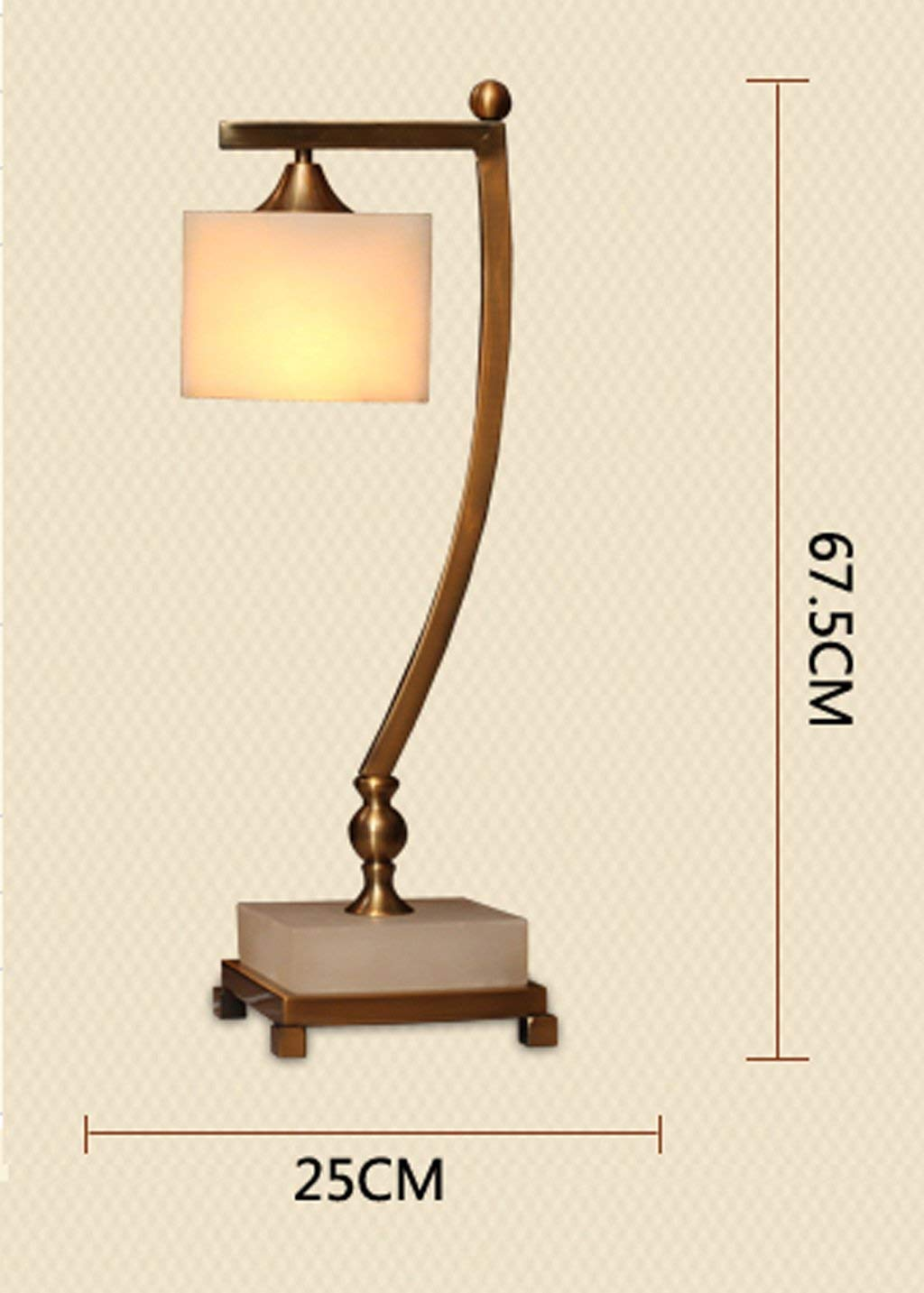 European - Style Lamps Simple Bedroom Living Room Study The Villa Hotel Lobby Soft Decorative Marble Table Lamp Without Light Source Energy Saving and Environmental Protection Modern, ChuanHan