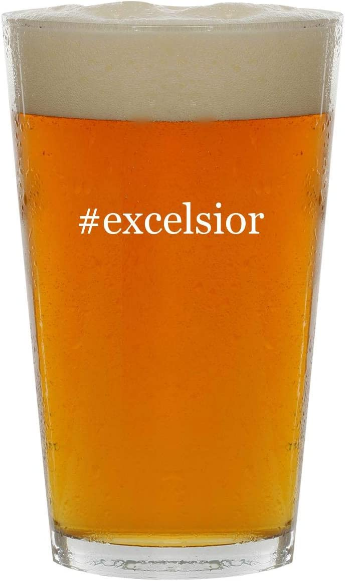 #excelsior - 16oz Hashtag Clear Glass Beer Pint Glass